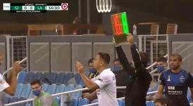 ¡Chicharito se estrenó en la MLS 2020-21! Captura/MLS