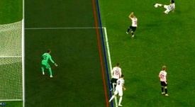 Morata had two goals ruled out. Screenshot/MovistarLigadeCampeones