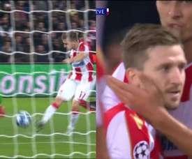 Marko Marin marcó un buen gol al PSG. Captura/Movistar