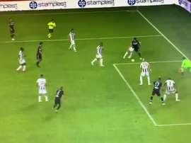 Correa hizo el 0-2 para la Lazio. Captura/ESPN