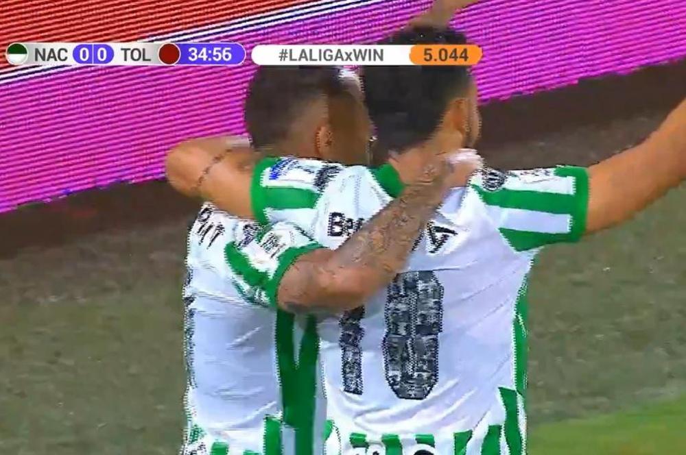 Atlético Nacional venció 1-0 a Tolima. Captura/WinSports