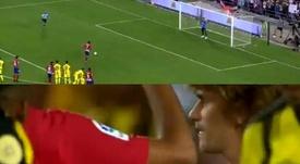 Griezmann se despide con gol... y un 'bailecito'. Captura/GolTV