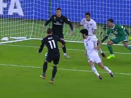 Bale puts Real Madrid ahead. TVE