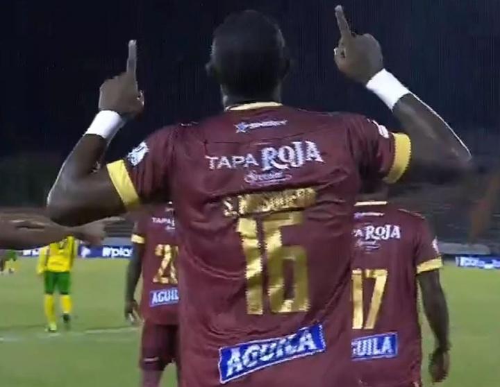 Deportes Tolima se acerca a los puestos de cabeza.  Captura/WinSports