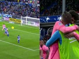 Sergi Roberto s'est déguisé en Messi, Suárez laisse passer et Aleña marque. Capture/BeINSports