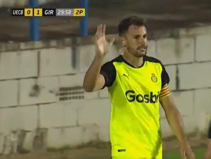 El Girona venció 0-2 al Costa Brava. Captura/Esport3
