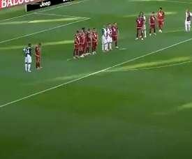 Cristiano Ronaldo inscrit son premier coup franc avec la Juventus ! Captura/Movistar+