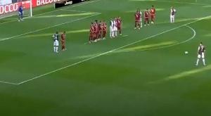 Ronaldo segna il suo primo goal di punizione. Movistar+
