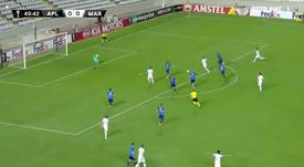 Le but de Payet pour le 1-0. Capture/RMCSport