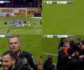 Larsson fue expulsado por provocar al rival. Captura