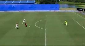 El golazo de Higuaín en el Toronto-DC United. Captura/ESPN