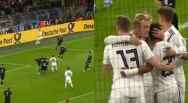 Gnabry dejó en evidencia a la defensa de Argentina: gol y asistencia. Captura/Cuatro