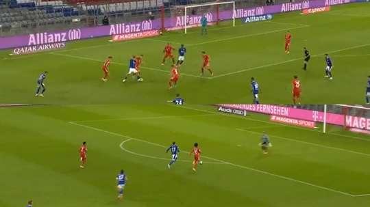 El Bayern es un cohete: un gol cruzando de área a área... ¡en diez segundos! Captura/Movistar+