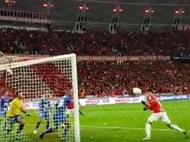 Assistência de D'Alessandro e gol de Guerrero. Captura/Internacional