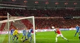 Asistencia de D'Alessandro y gol de Guerrero: da igual cuando leas esto. Captura/SCInternacional