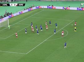 Iwobi scored a stunner to give Arsenal hope. Captura/Movistar+