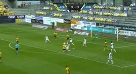 El chico prodigio de Dinamarca promete: este es su sello como goleador. Captura