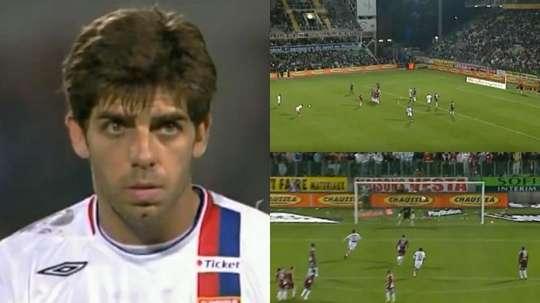 Era un especialista: el Lyon recordó uno de lo golpeos increíbles de Juninho. Twitter/OL