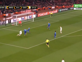 Sema rifled home Ostersunds' second of the night. Screenshot