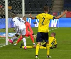 Mbappé porta la Francia in vantaggio. UEFATV