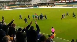 Bruges égalise contre le Real Madrid en Youth League... grâce à son gardien. Capture/Twitter