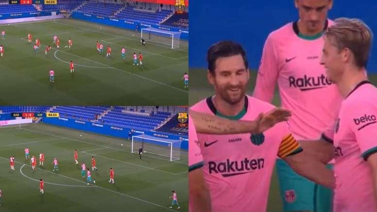 Messi scored for Barca. Screenshots/BarçaTV