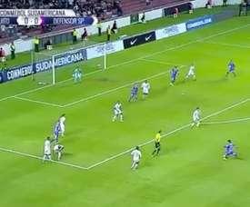 El jugador del conjunto uruguayo marcó el primer tanto del partido. FOXSports