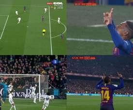 Malcom empatou a partida. Captura/Gol/TVE
