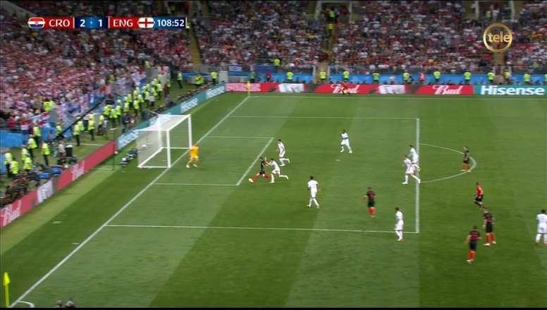 Mandzukic puso pie y medio en la final. Captura/TeleDoce
