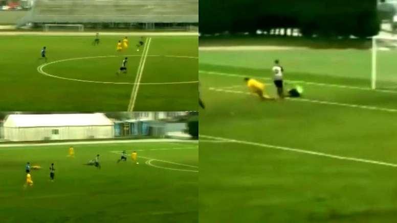 El gol maradoniano del hijo de un ex futbolista que ya despunta. Captura/MarcaTV