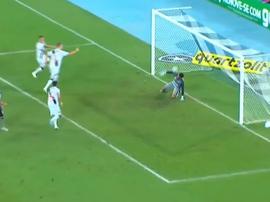 Maxi López empató el encuentro ante Botafogo. Captura