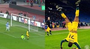 Recebeu insultos racistas, marcou o gol e lembrou a morte de Mussolini. Captura/Movistar+/Celtic
