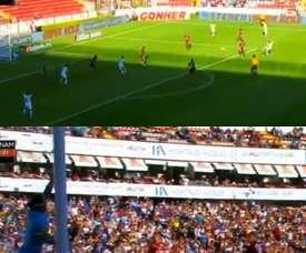 Barrera inauguró el marcador con un golazo. Twitter/LigaBancomer