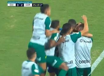 Cuiabá perdió 1-2 ante Corinthians. Captura/SporTV