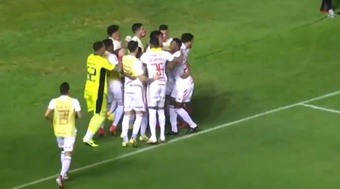 Inter, Vinicius Mello fratura o pé e para por quatro semanas. Captura/SporTV