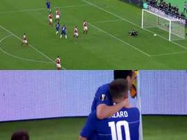Hazard and Pedro made it two for Chelsea. Captura/Movistar+