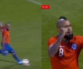 Vidal scored once again versus Guinea. Capturas/Claro