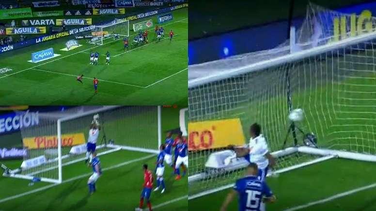 Fariñez falló en el gol del DIM. Captura/WinSports