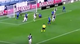Cristiano 'offre' le but à Ramsey pour ouvrir le score. Capture/Vamos