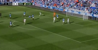 Rodrygo got a bit of luck as he put Madrid ahead. Screenshot/RealMadridTV