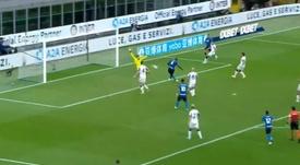 El Inter remontó en dos minutos. Captura/MovistarLigadeCampeones