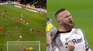 Rooney a marqué un but pour son 500e match en Angleterre. Capture/SkySports