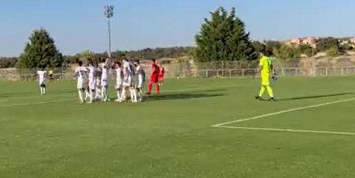 El Albacete venció al Rayo Majadahonda 1-2.  Twitter/AlbaceteBPSAD