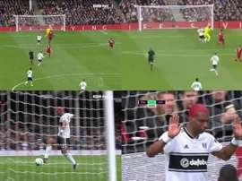 Alissone esce a vuoto e regala il goal a Babel. Goal