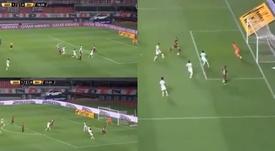 River cantó un gol seis meses después: jugadón y dedicatoria de Borré. Captura/FOXSports