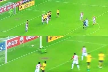 Minuto 6, Copa Libertadores... ¡y gol del portero de libre directo! Captura/ESPN