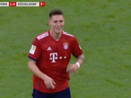 Niklas Süle anotó el primer gol del Bayern. Captura/FoxSports