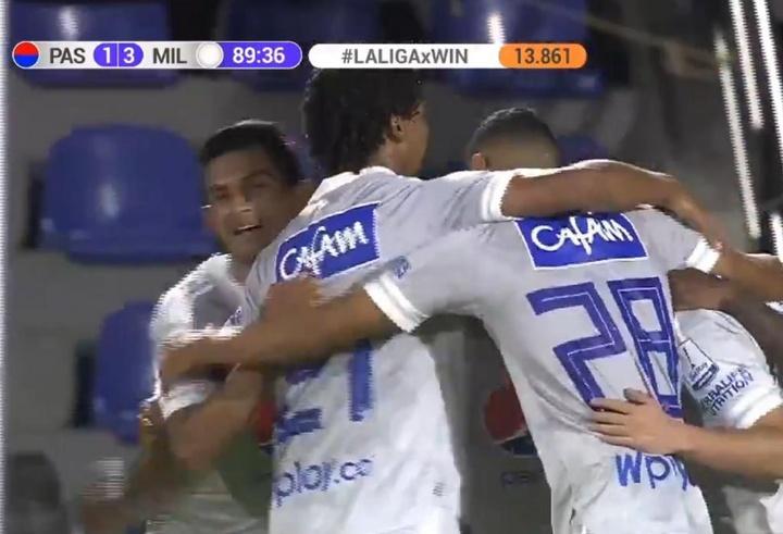 Millonarios debutó con victoria en el Clausura de Colombia. Captura/WinSports