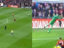 Valery permet à Southampton d'ouvrir le score. Capture/NBC
