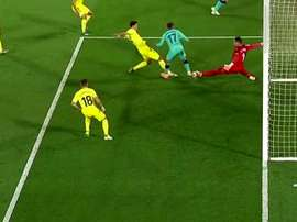 Griezmann marcou o primeiro gol do jogo entre Villarreal e Barcelona. Captura/Movistar+